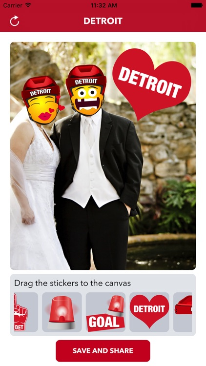 Detroit Hockey Stickers & Emojis
