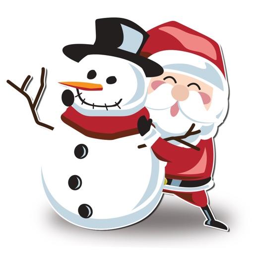 Snowman Santa XMAS Winter Snow Stickers
