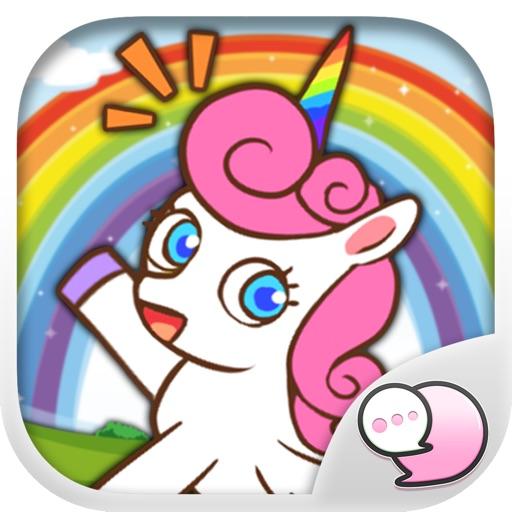 Sweety Unicorn Stickers & Keyboard By ChatStick