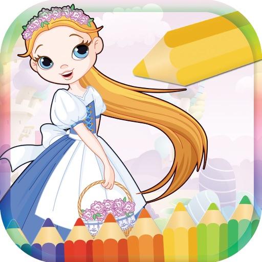 Princess Coloring Book For Kid