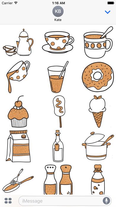 Kitchen Set - Cork Deco Stickers screenshot one