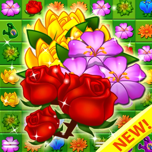 Blossom Garden - Free Flower Blast Match 3 Puzzle iOS App