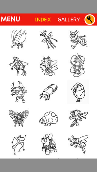 Insect Coloring for Kids : iPhone edition screenshot one