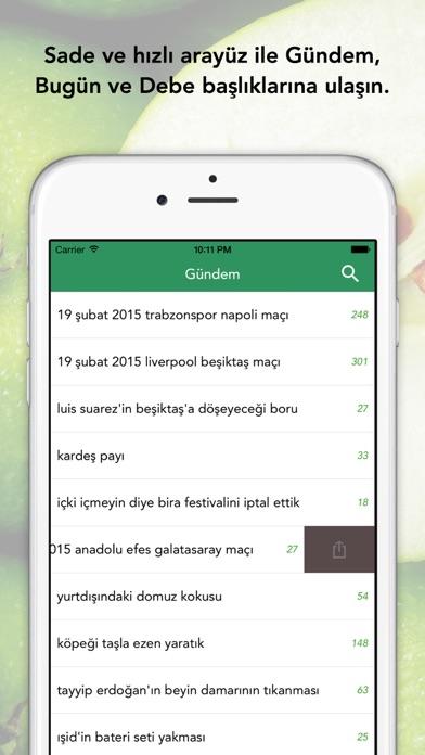 EkşiElma - ekşi sözlük mobil uygulaması screenshot one