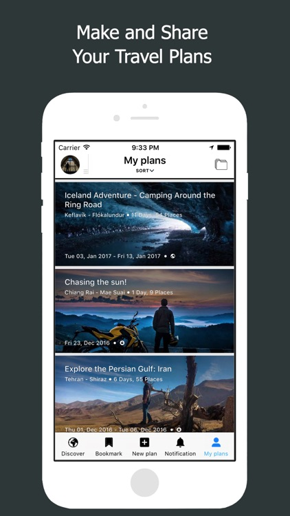 Excursion: Trip Planner, Travel Itinerary Planning