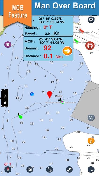 Texas boating gps nautical offline sailing charts screenshot-3