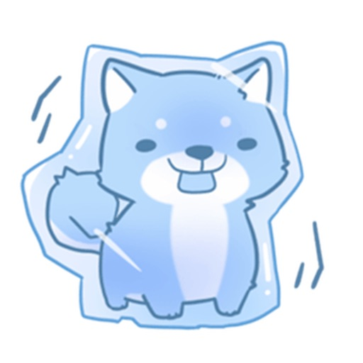 Rex The Sibainu Cute Dogs Sticker