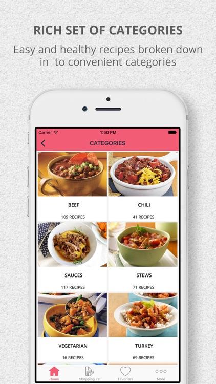 SlowCooker Crockpot Recipes & Shopping List