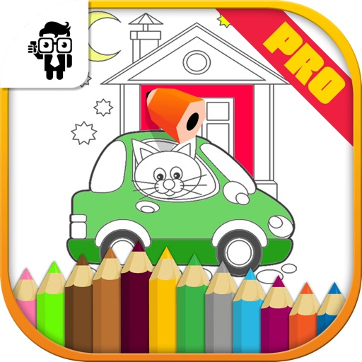 Car Kids Coloring Book Pro