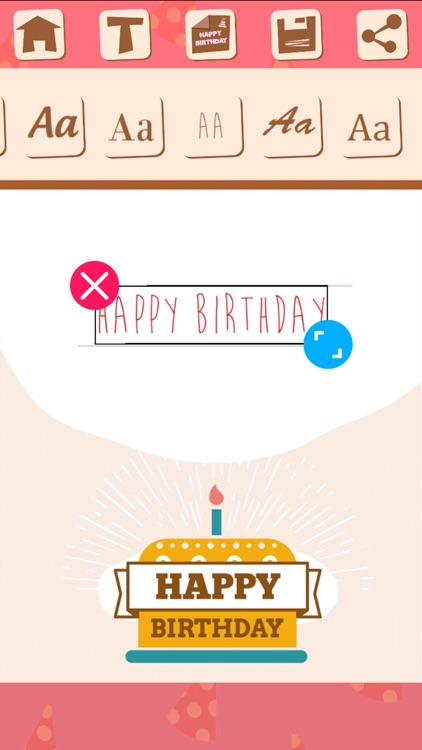 Birthday greeting cards with stickers – Photo edit screenshot-3