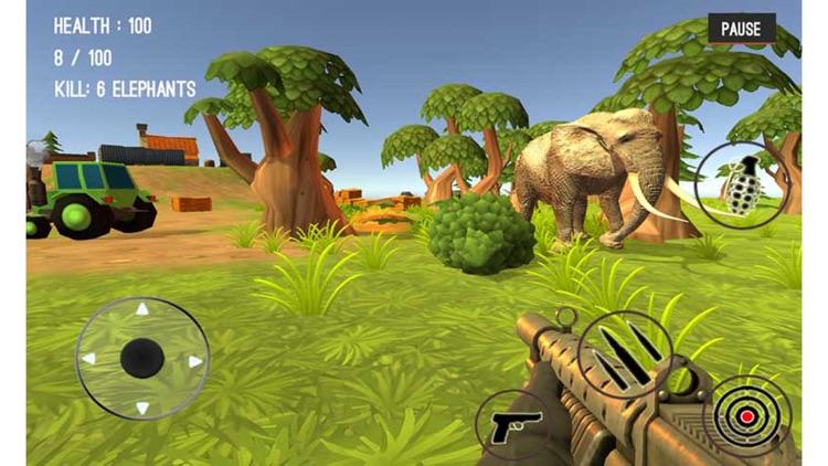 Wild Zoo Animals Hunting City screenshot-3
