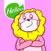 Hellowe Stickers: Pink Lion