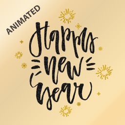 Animated Happy New Year Greetings for iMessage