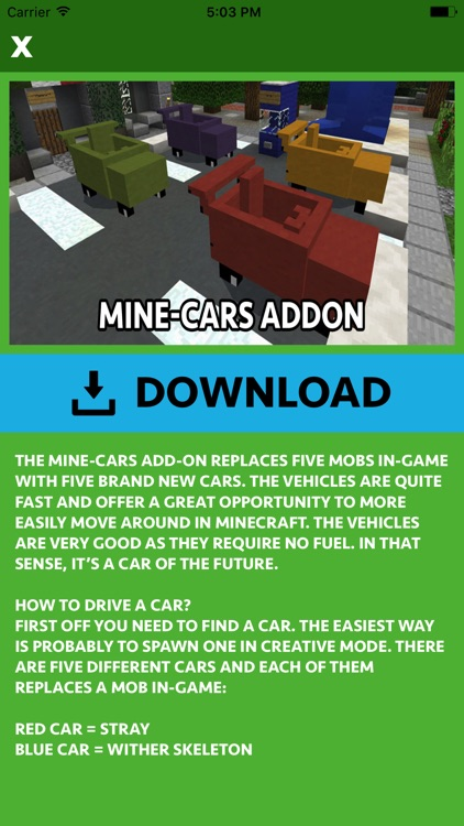 CARS ADDONS FOR MINECRAFT POCKET EDITION (PE) screenshot-4