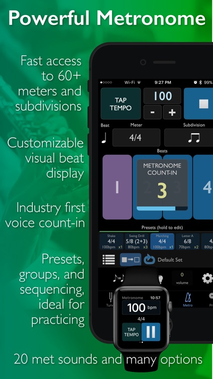 TonalEnergy Chromatic Tuner and Metronome app image