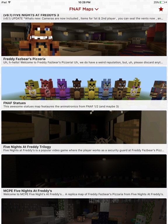 FNAF Maps For Minecraft PE App Price Drops - Skins para minecraft pe five nights at freddys