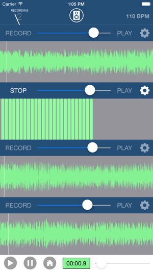 Fretbase: 4 Track Recorder App for the iPhone