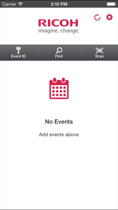 Ricoh Events Screenshot