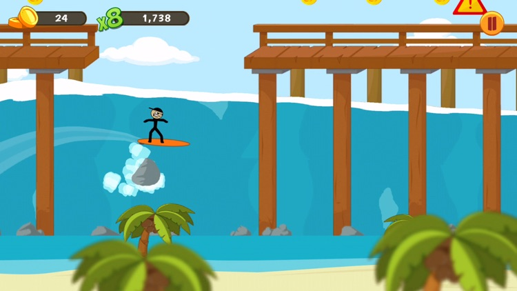 Stickman Surfer screenshot-0