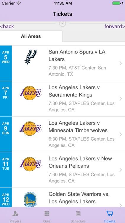 Team Info - for LA Lakers screenshot-4