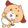 Woofie, the cute little puppy for iMessage Sticker