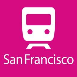 San Francisco Rail Map Lite