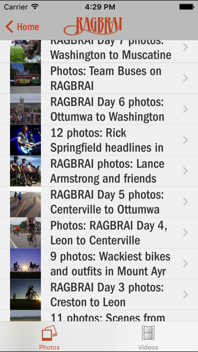 RAGBRAI® Screenshot