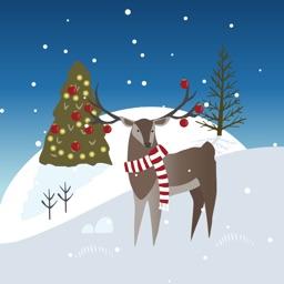 Wild Christmas - Animated Christmas Stickers