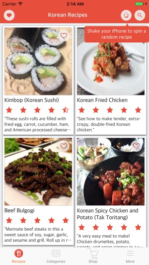 Korean cuisine easy and delicious korean food on the app store forumfinder Images