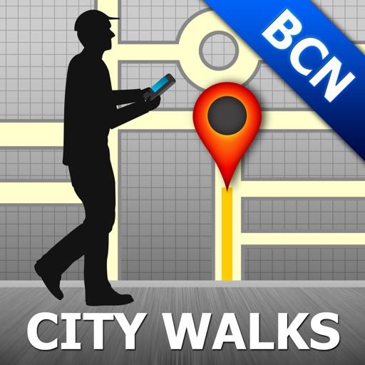 Barcelona Map and Walks, Full Version