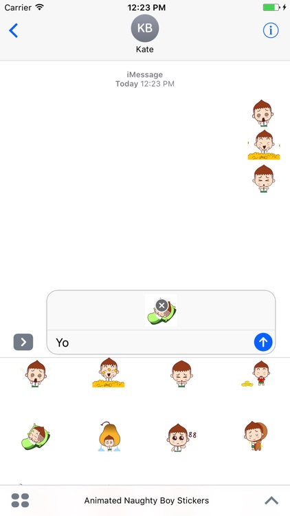 Animated Naughty Boy Stickers For iMessage