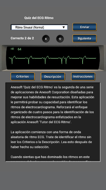 Quiz del ECG Ritmo screenshot-0