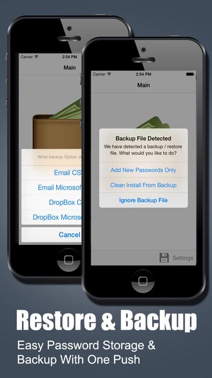 Password Manager Fingerprint Password Secure Vault screenshot-3