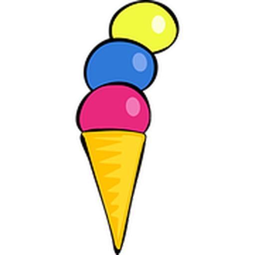 冰淇淋八貼紙包