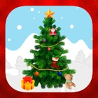 Decorate and create Christmas tree with stickers icon