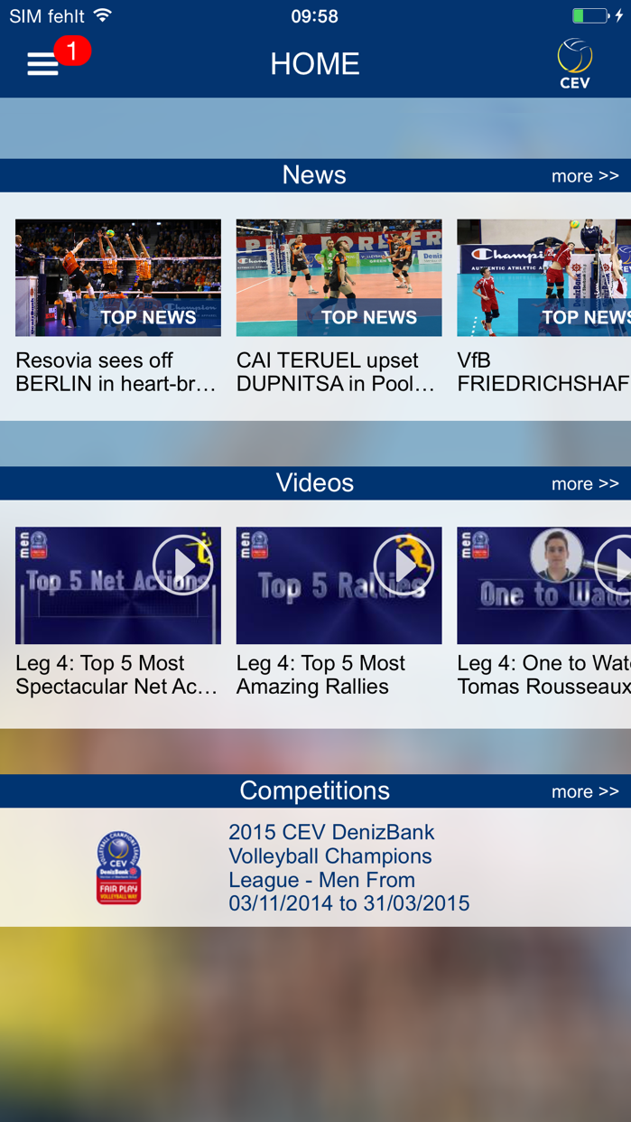 European Volleyball Screenshot