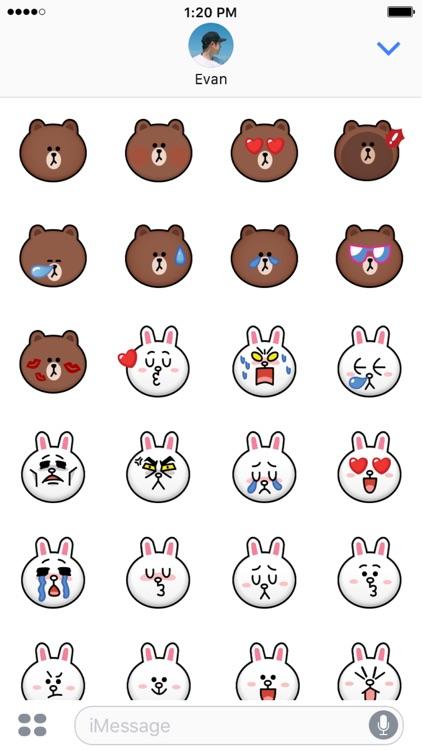 BROWN & CONY Emoji Stickers - LINE FRIENDS screenshot-3
