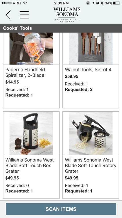 Williams Sonoma Gift Registry screenshot-4