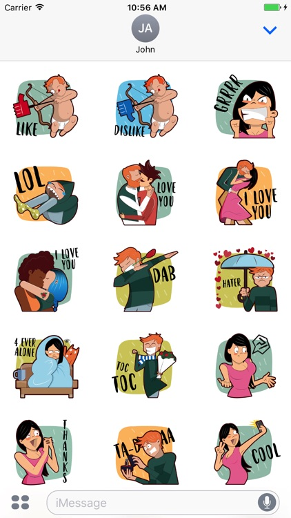 Valentine's Day - Love Stickers