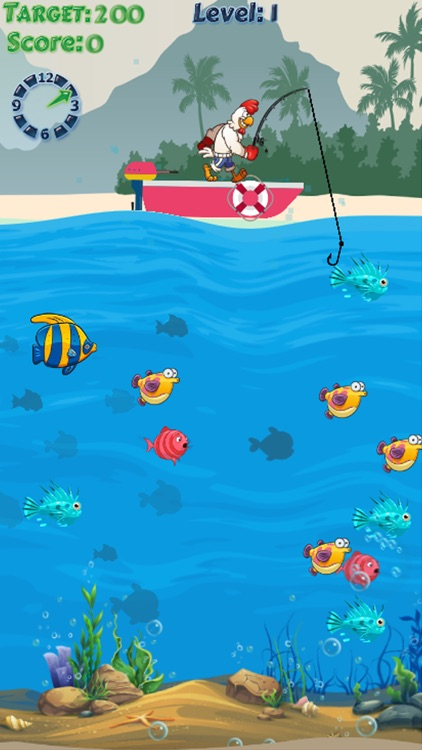 Chicken Fishing Games : fish hunting game for fun