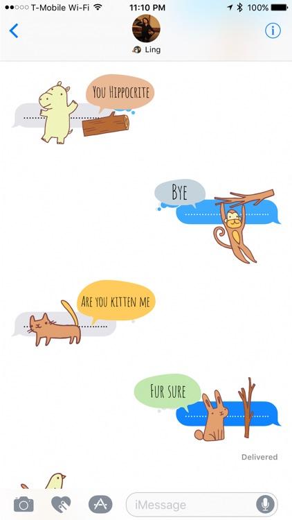 Zoo Friends - Fun Animal Puns with Speech Bubbles screenshot-3