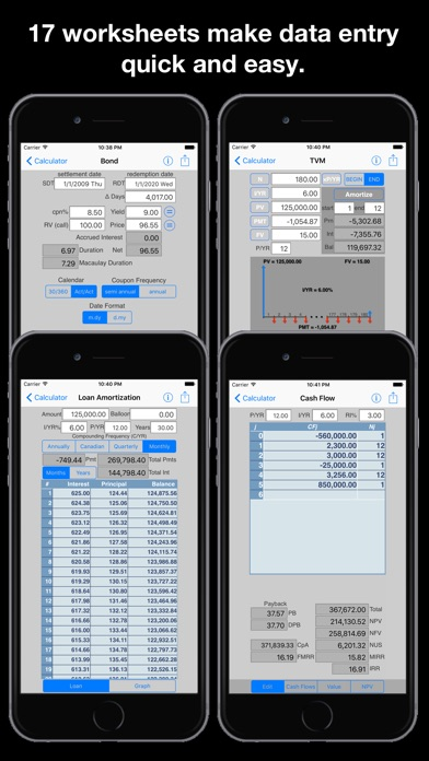 Screenshot for 10BII Calc HD in Portugal App Store