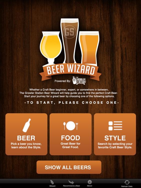 Beer Wizard Menu Connect