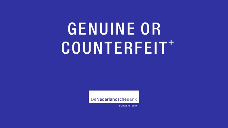 Genuine or Counterfeit⁺