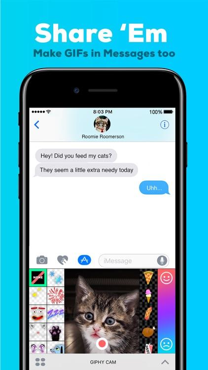 GIPHY Cam for iMessage. The GIF Creator screenshot-3