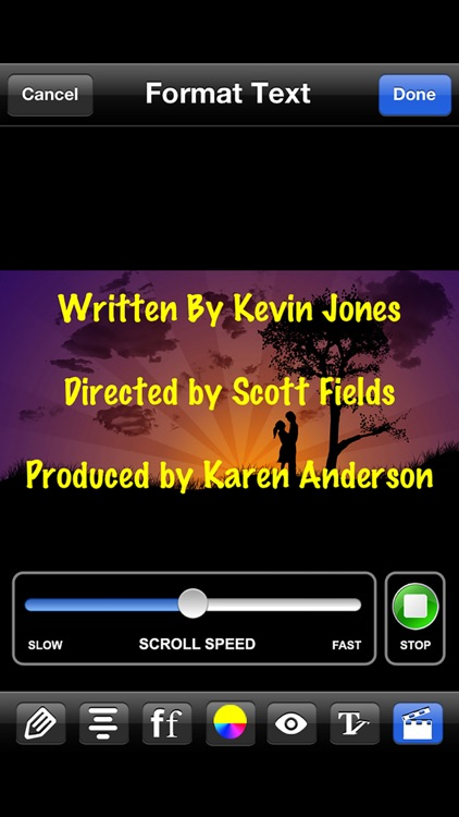 Scrolling Credits screenshot-3