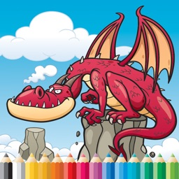 Dragon Art Coloring Book - Activities for Kid