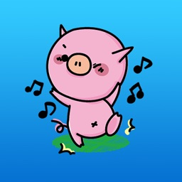 Moomoo The Funny Pink Pig Daily Life Sticker