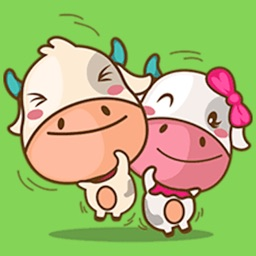 Happy Couple Cow