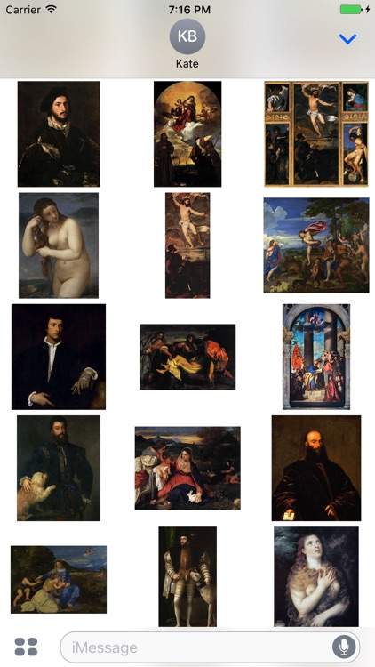 Titian Paintings for iMessage